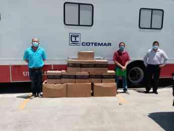 Dona Grupo Cotemar insumos médicos al IMSS de Ciudad del Carmen, para ayudar al combate del COVID-19