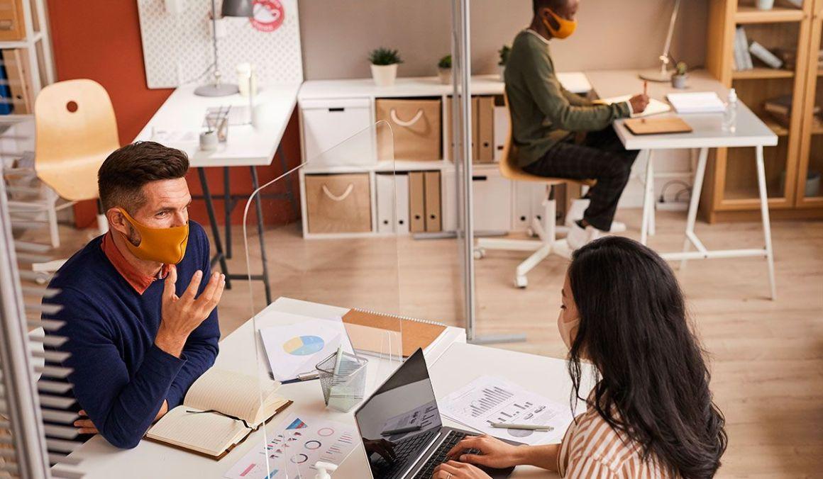 Medidas de prevención y mobiliario especial para oficinas seguras: Office Class 1