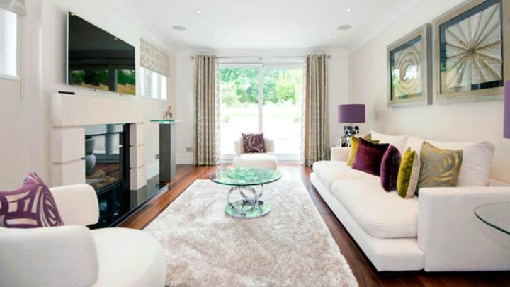 Ideas para decorar salones rectangulares aprovechando al