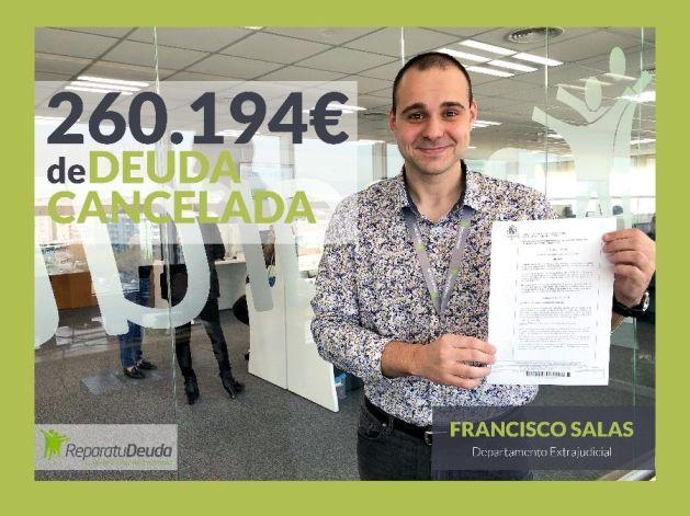 Repara tu Deuda Abogados logra cancelar 260.194 ? en Mallorca gracias a la ley de la Segunda oportunidad