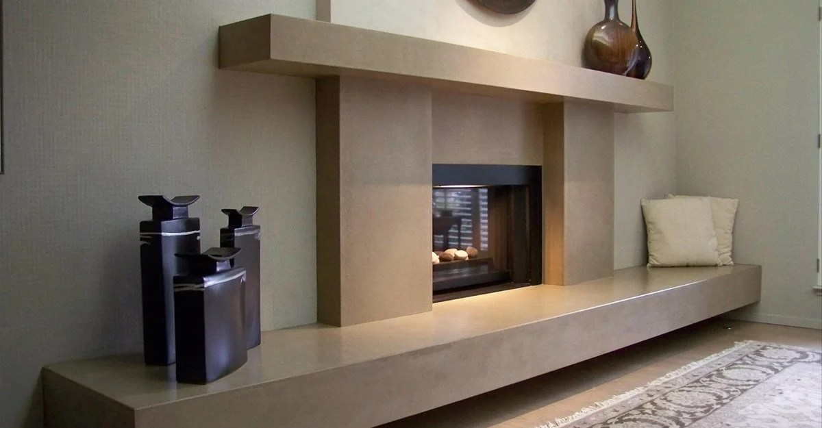 Concrete Fireplace and Fireplace Surrounds  The Concrete