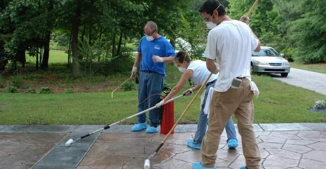 Concrete Pool Decks Solid Rock Services Gravette Ar Stamped