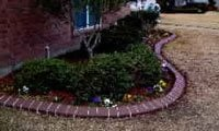 concrete curbing and landscape