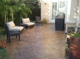 stained concrete patio how to stain