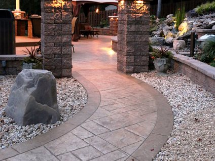 Stone Patios  Stamped Concrete Mimics Stone Pavers  The Concrete Network