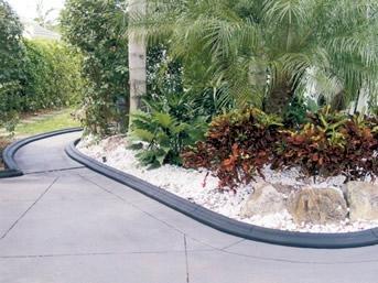 concrete curbing and landscape