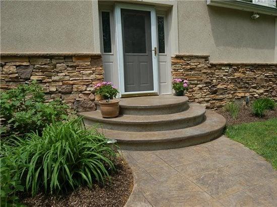 concrete steps outdoor stair design