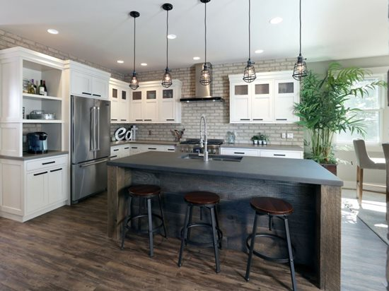 concrete kitchen countertops island Concrete Countertops – Are Cement Counters Right for You