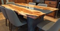 Hand-Crafted Concrete and Wood Table - The Concrete Network
