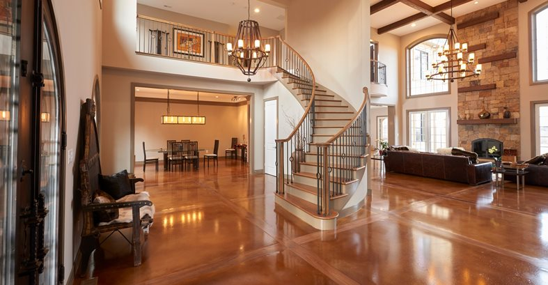 Wood Inlays Add Elegance To Concrete Floor The Concrete Network