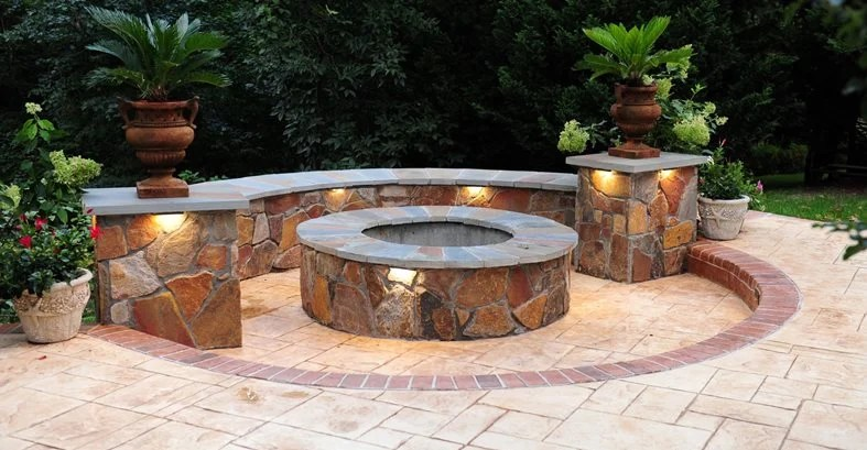 Fire Pits Stone & Concrete Fire Pit Designs And Ideas The