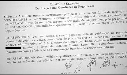 contrato - Lula diz que entrou e saiu do governo com os mesmos imóveis