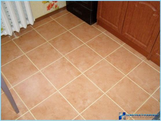 the grouting of ceramic tiles