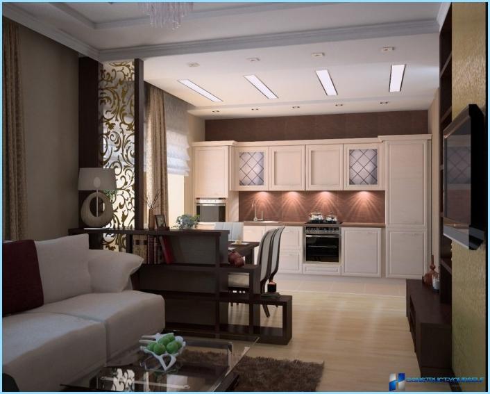 La sala da pranzo sempre più spesso fa parte della zona cucina quindi è. Progettazione Di Un Soggiorno Combinato Con Una Cucina Di 18 20 25 Mq Foto