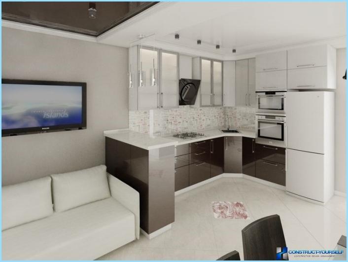 Quindi, per arredare una cucina e soggiorno in 30 mq, ad esempio, vi consigliamo di dividere, almeno in parte, la zona cottura da quella relax. Progettazione Di Un Soggiorno Combinato Con Una Cucina Di 18 20 25 Mq Foto