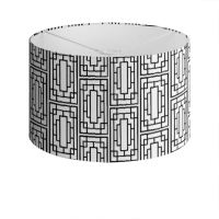 China Girl Drum Lamp Shade in Black and White