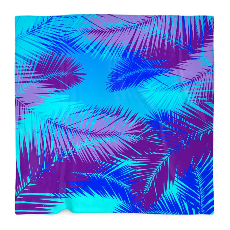 colorful blue tropical pattern