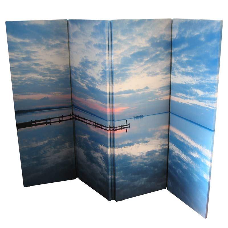 Raumteiler Mit Fotodruck  Paravent bedrucken