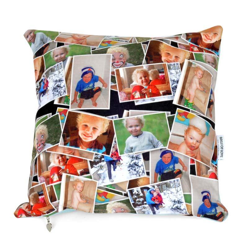 Cojn con Fotomontaje  Cojines con collage personalizado