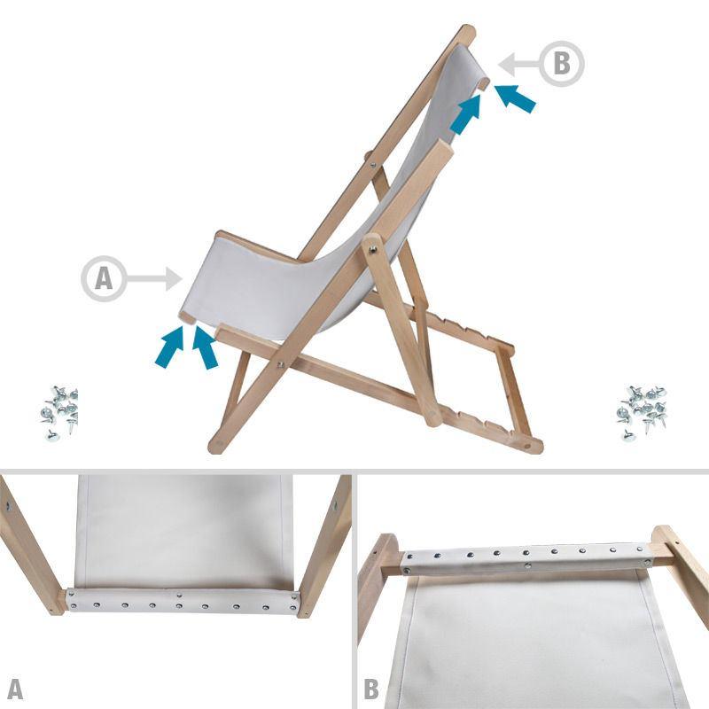 Zelf Ontworpen Strandstoel Stof Beprinte Stof Voor