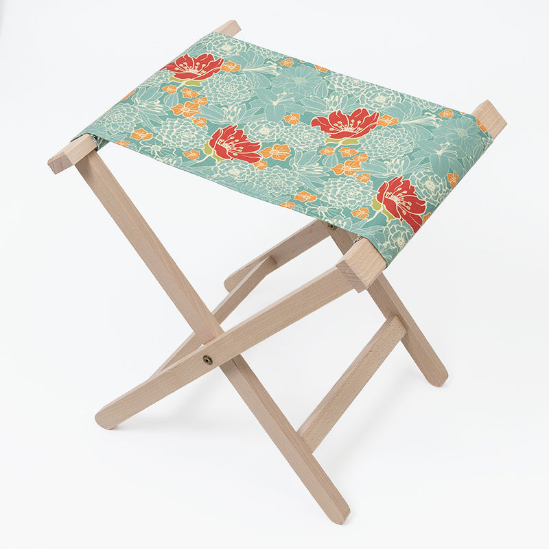 folding chair uk aquatec shower bespoke chairs design your own camp stool printed with spring floral