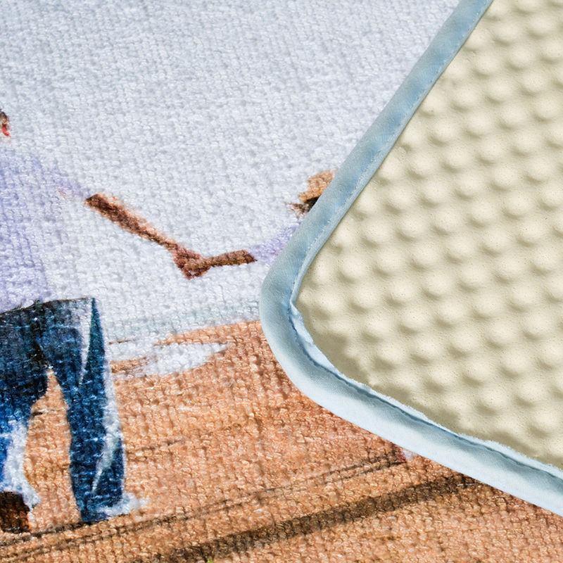 tapis de bain personnalise impression textile de qualite