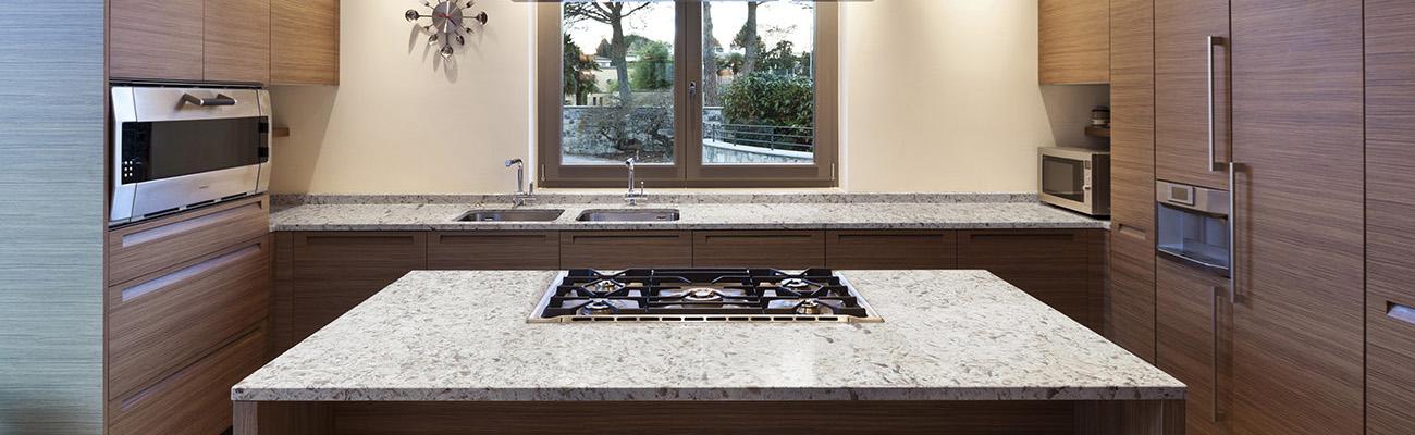 kitchen countertops quartz decorative trash cans vs granite