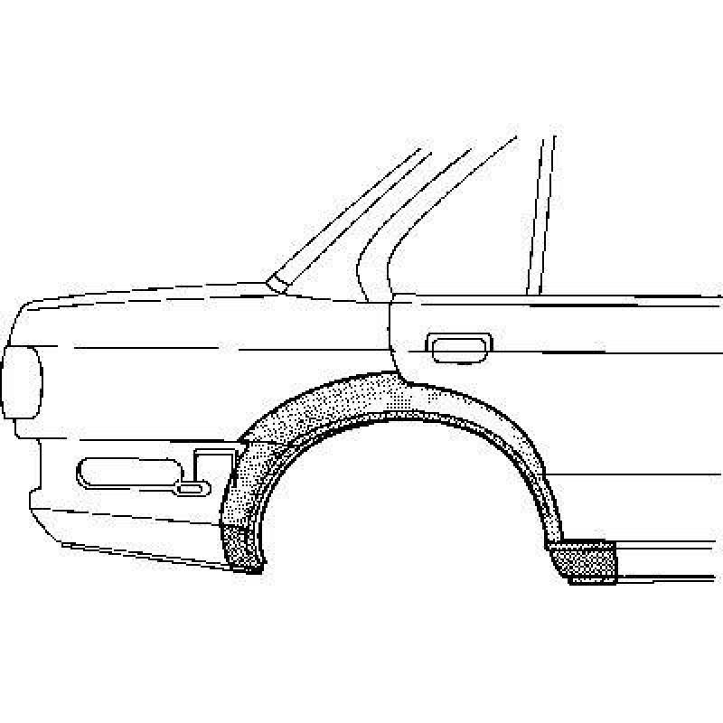 Arc Aile Arrière droit Bmw Série 3 E30 4 portes- Aile