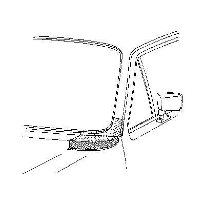 Coin sous pare brise Gauche Volkswagen Golf Cabriolet