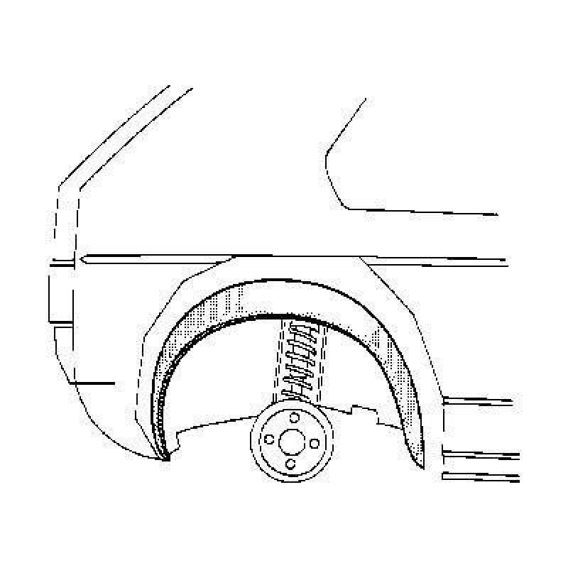 arc d'aile intérieur droit Volkswagen Golf Cabriolet