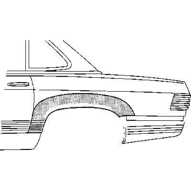 Arc d'aile arrière gauche Mercedes SL W107 1971-1989