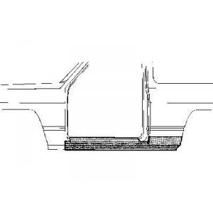 Arc d'aile arrière gauche Nissan Patrol GR Y60 2 portes