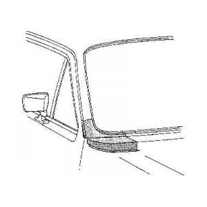 arc d'aile arriere Gauche Volkswagen Golf 1 Cabriolet