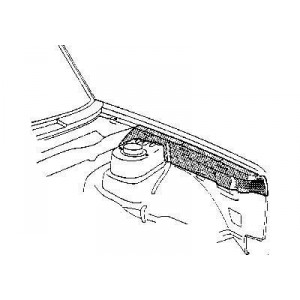 Fixation d'aile avant droit Volkswagen Golf Cabriolet de