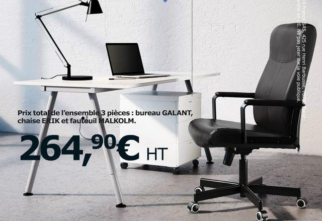 bureau galant 159 euros caisson 3 tiroirs sur roulettes 59 euros chaise