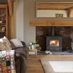 Cosy Living Room With Log Burner Designs Leather Couches 12 Poeles A Bois Tendance Pour Salon Design - Côté Maison