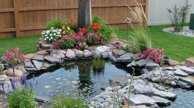 bassin fontaine cascade de jardin