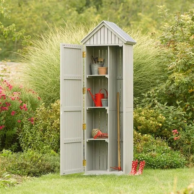 Abri De Jardin Bois Pvc Toit Plat Cote Maison
