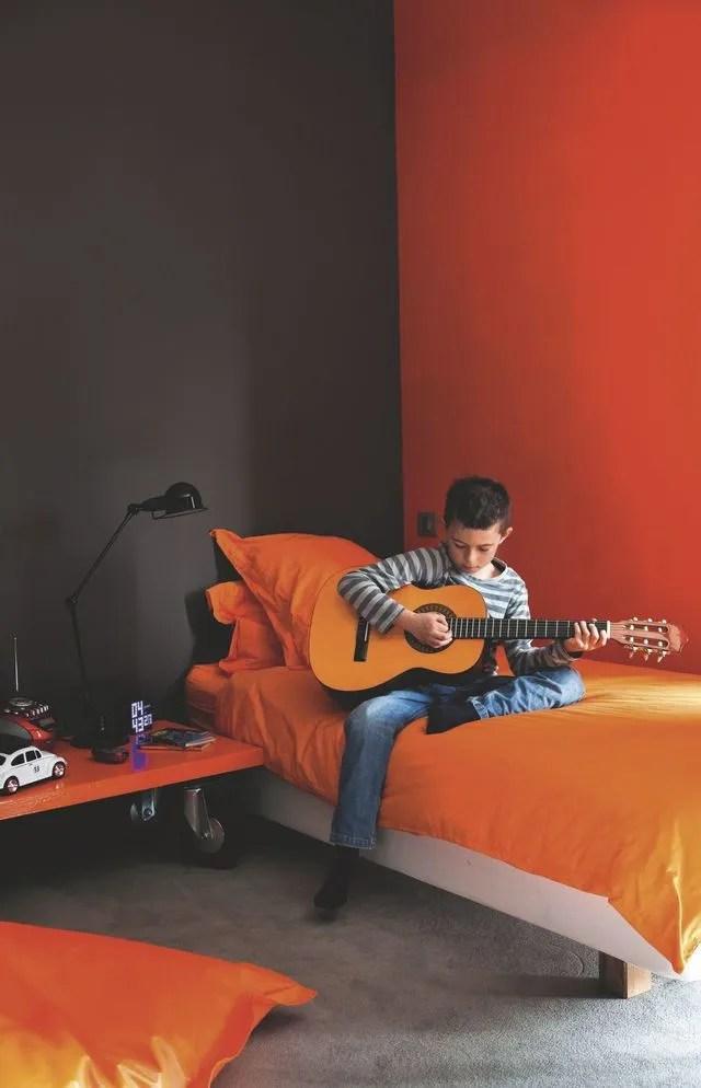 Peinture orange  une dco en couleur  Ct Maison