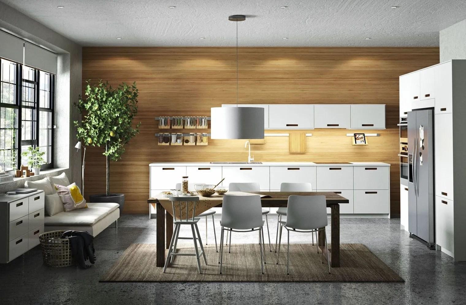 Cuisine Blanc Et Bois Ikea Kitchen Ideas Pinterest Kitchens
