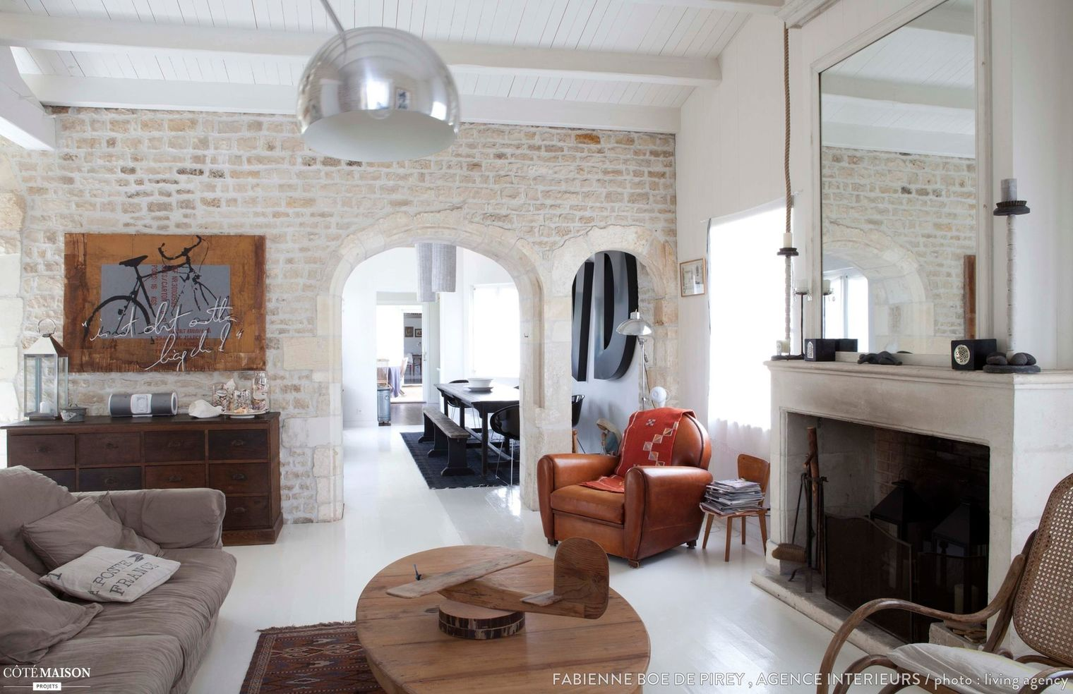 dcoration salon avec la pierre