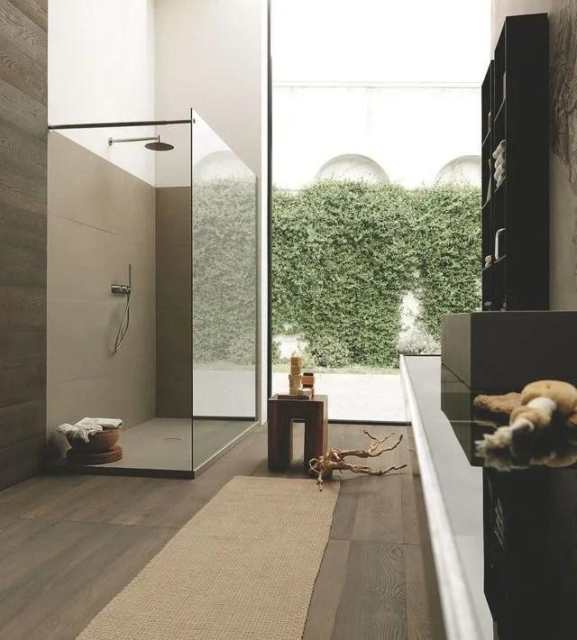 douche avec ou sans parois cote maison
