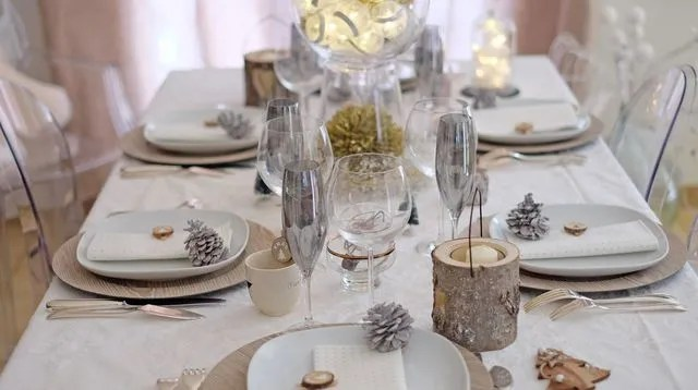 faire une table de noel chic et simple
