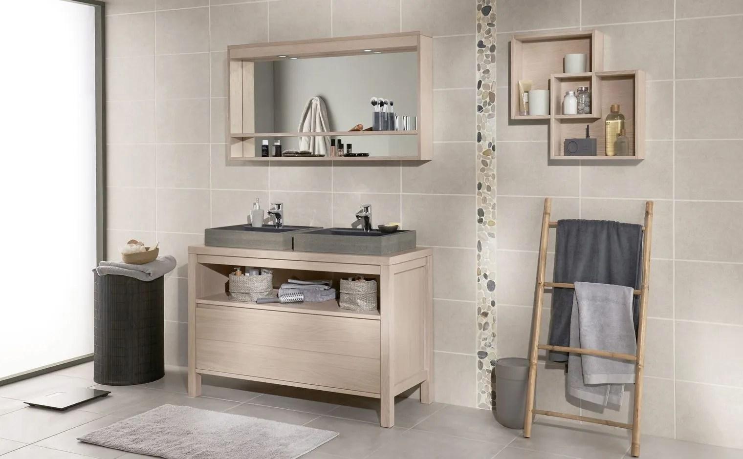 Salle de bain type industriel meuble salle de bain type for Meuble salle de bain bois et blanc