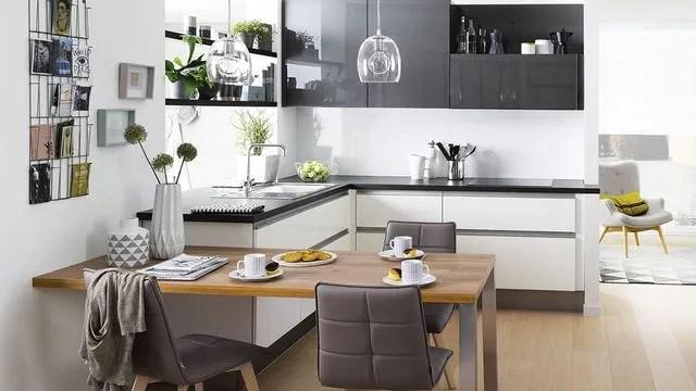 Plan de cuisine en L  8 exemples pour optimiser lespace  Ct Maison