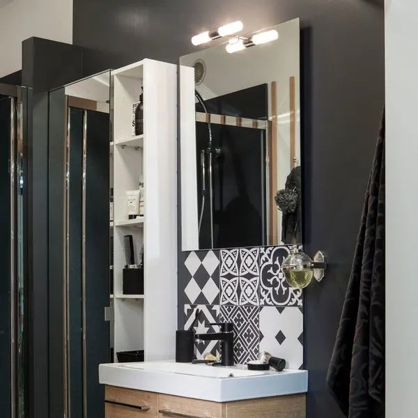 luminaire salle de bain industriel