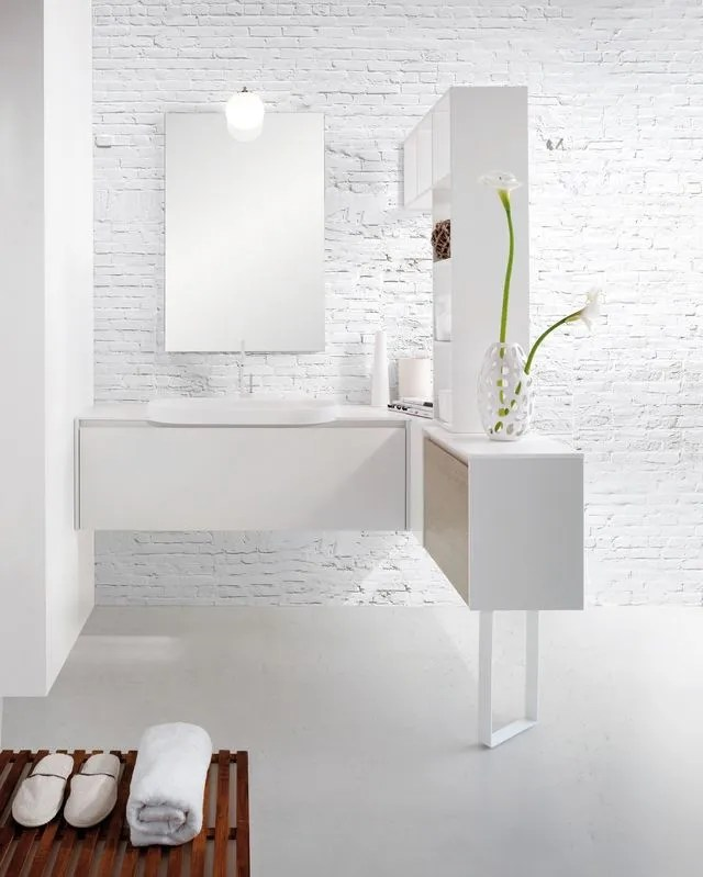 salle de bains deco blanche un