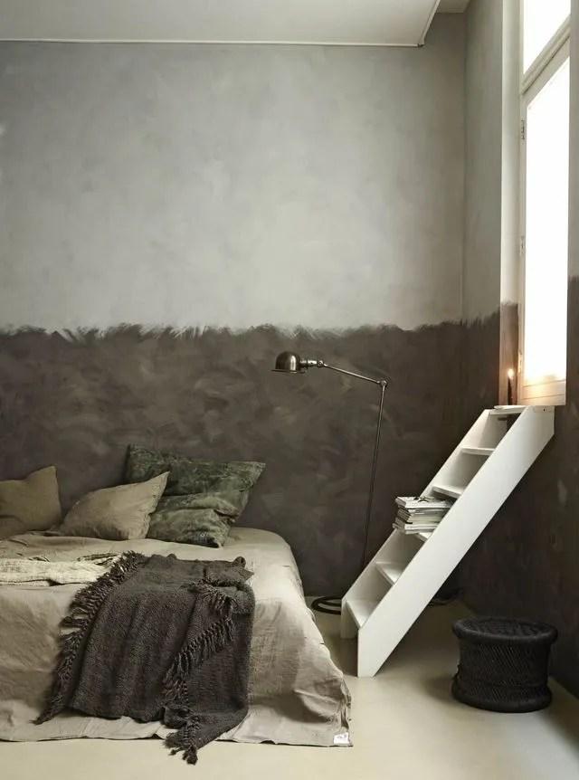 Dco chambre  crer une tte de lit en peinture originale  Ct Maison