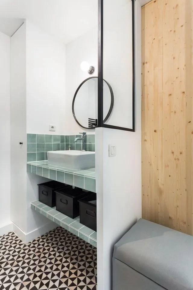 etagere sous evier salle de bain