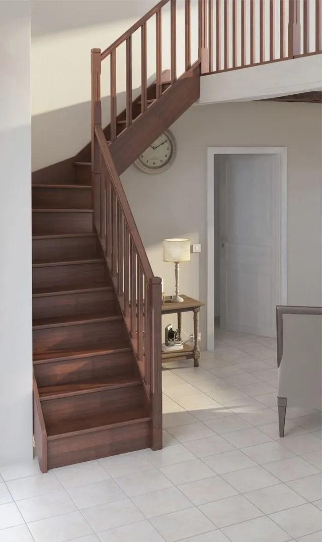 Wc Sous Escalier Quart Tournant Socle Sans Contremarche Escaliers